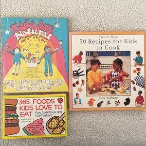 Bundle of 3 Healthy Children's & Kids Cook Books!